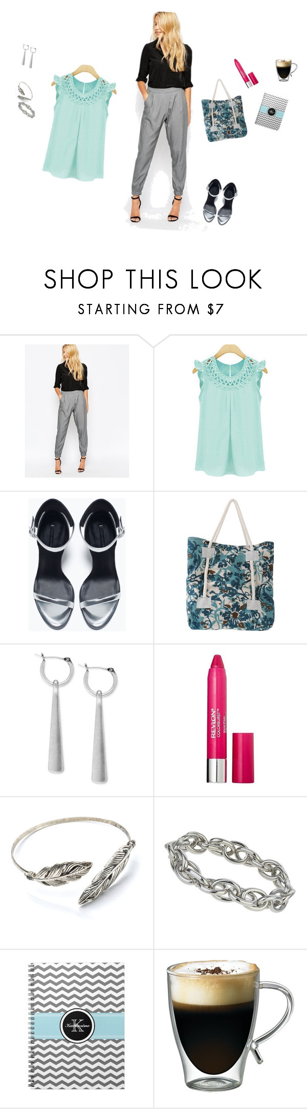 Monday's office look... by missy35000 on Polyvore featuring Glamorous, Zara, CAFèNOIR, Lucky Brand, Topshop, Revlon and Starfrit