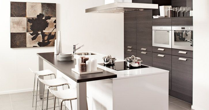 Afbeeldingsresultaat voor keukens met verhoogde bar keukens