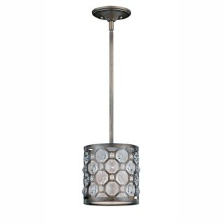 @Overstock - This pendant features a hand-painted weathered bronze finish with a crystal accent shade. The one-light system measures 48 inches high and 8 inches in diameter.http://www.overstock.com/Home-Garden/Cartier-1-light-Min-Pendant-in-Weathered-Bronze/6813909/product.html?CID=214117 Add to cart to see special price