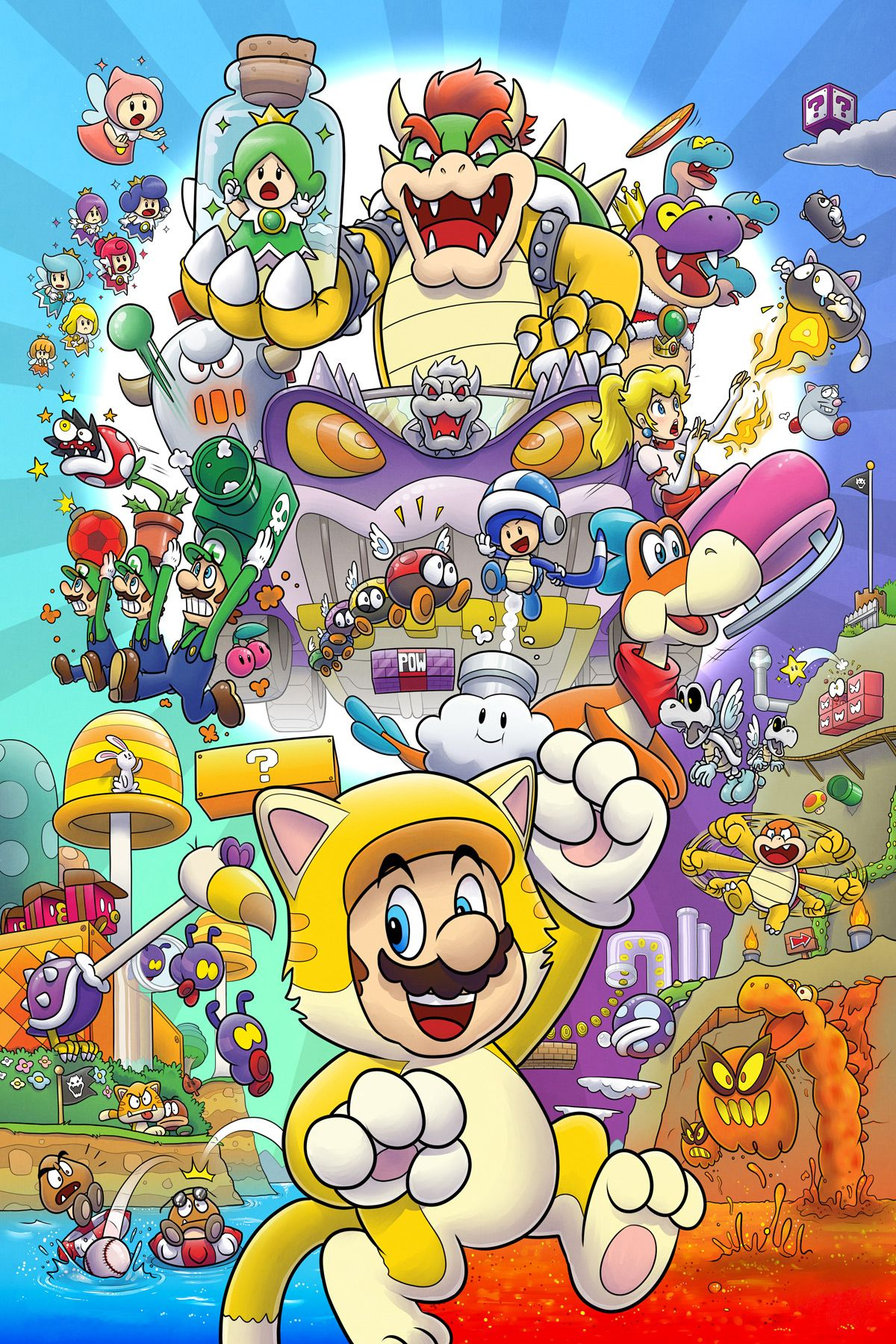 Super Mario 3 D World With Images Super Mario Art Super Mario