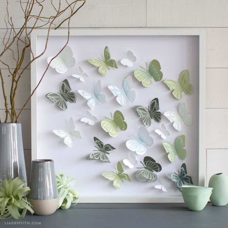 Free Svg 3D Butterfly Wall Art To Hang In Your Home