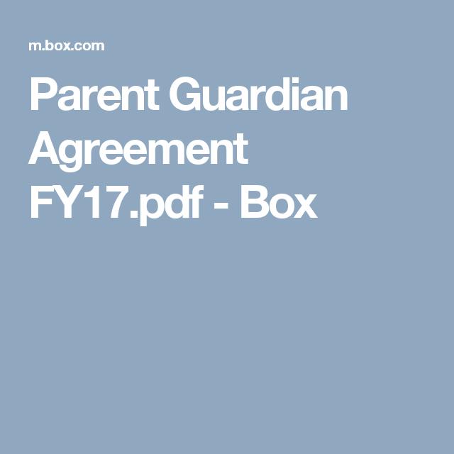 Parent Guardian Agreement Fy17pdf Box Troop Management