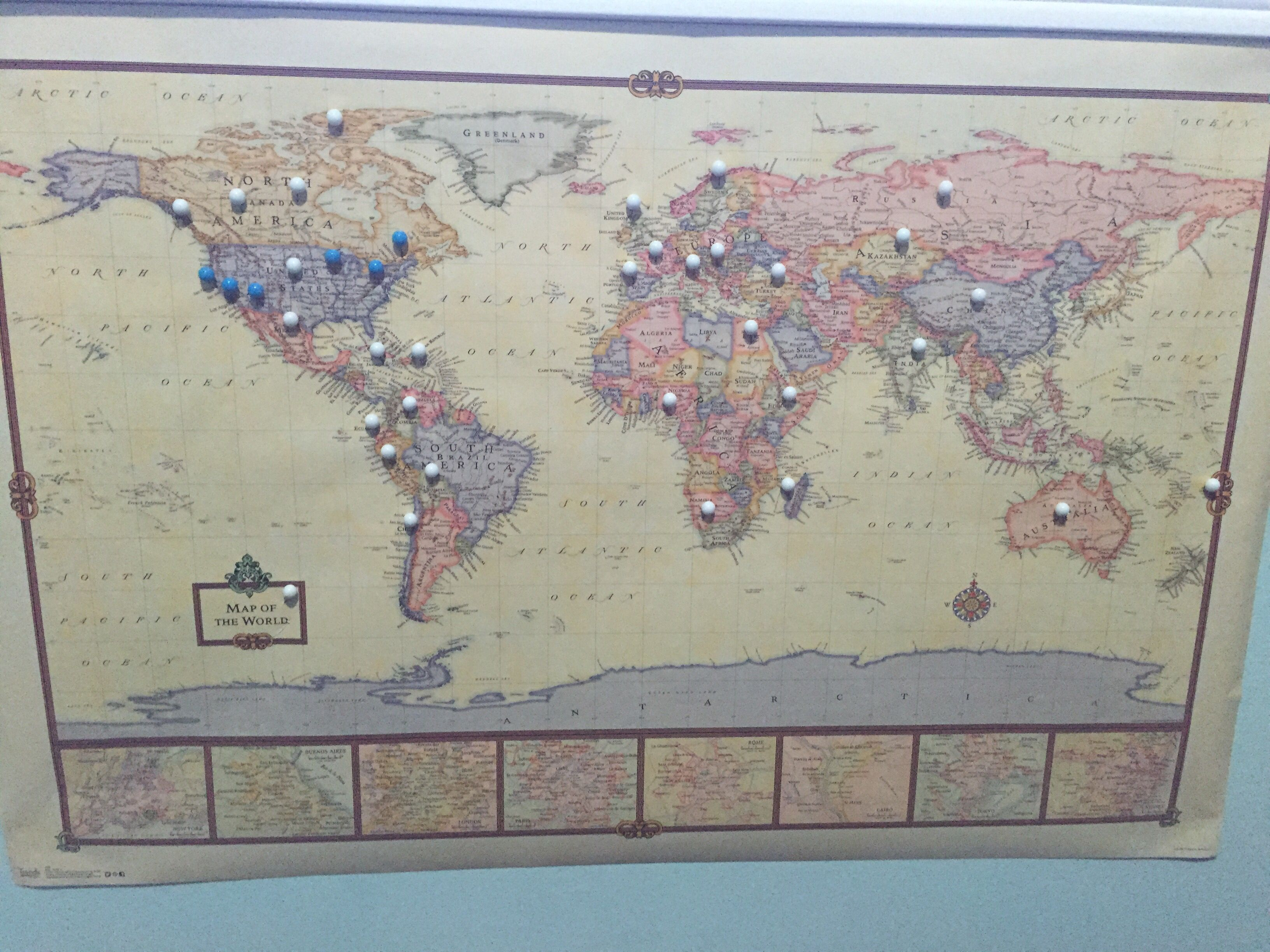 Buy A World Map Poster Purchase Pushpins Different Colours One - Buy map posters