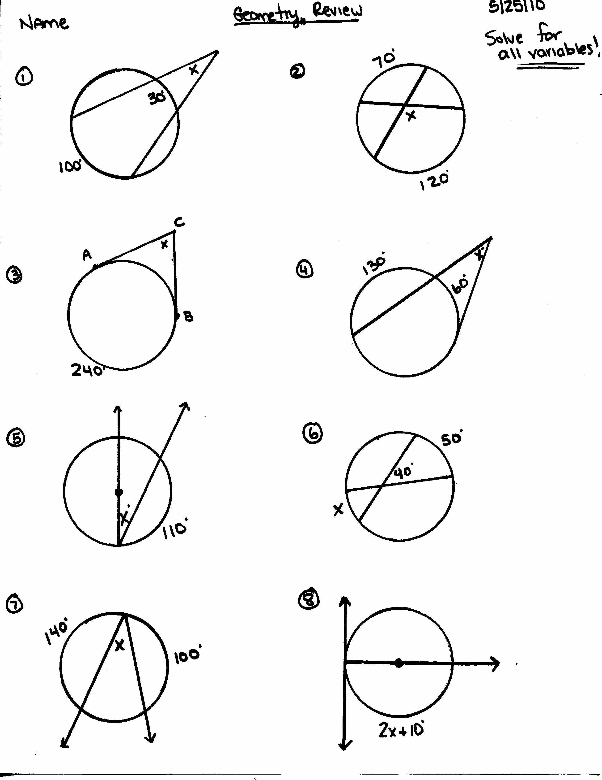 50 Angles In A Circle Worksheet In With Images