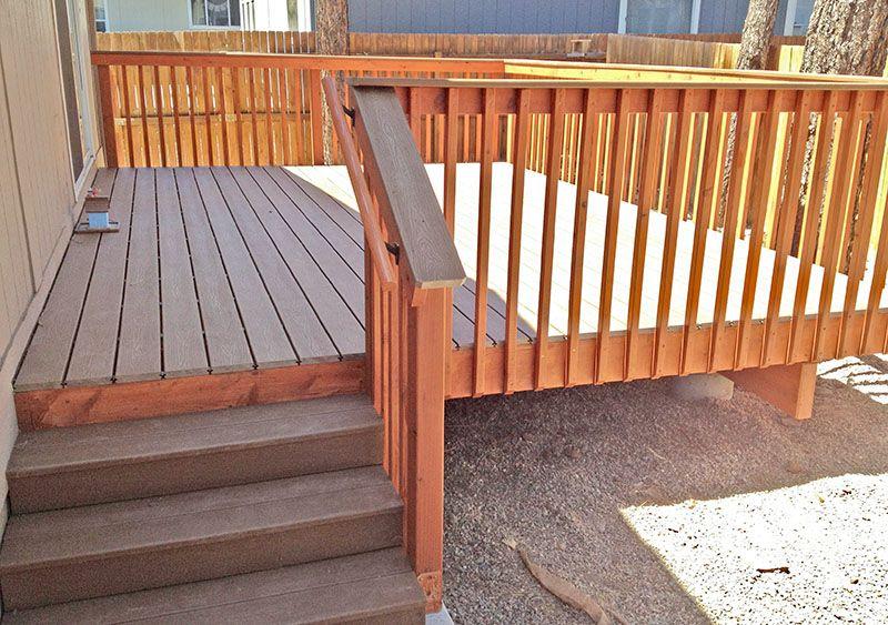 Best Trex Deck With Redwood Handrails In Flagstaff Arizona By 400 x 300