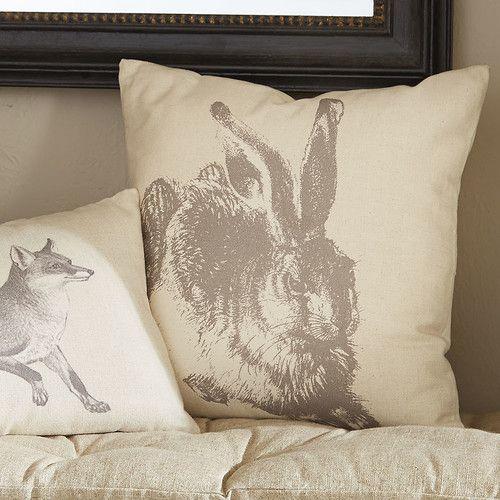 Sensational Meadow Hare Pillow Birchlane Lsh Hallway Pillows Throw Inzonedesignstudio Interior Chair Design Inzonedesignstudiocom