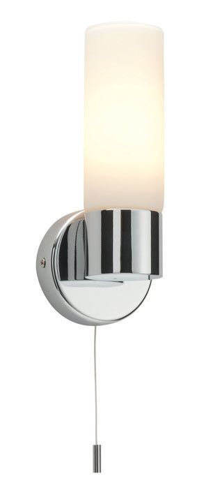 Saxby Pure 34483 Bathroom Wall Light Ip44 Chrome And Opal Glass Pull Cord Wall Lamps With Cord Wall Lights Bathroom Wall Lights