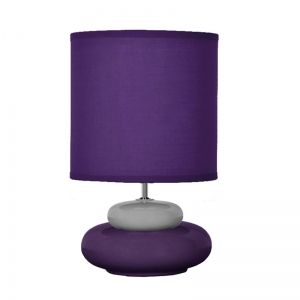 Petite lampe de chevet coloris violet prune Lili: petite lampe à poser à la fois originale et pas chère..