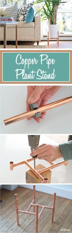 DIY Raised Copper Pipe Plant Stand | Hunker