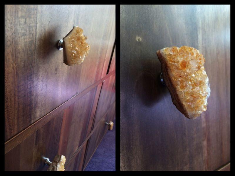 Transformed Target Asmara dresser. DIY update with custom crystal quartz knobs. dbsobsessed.com