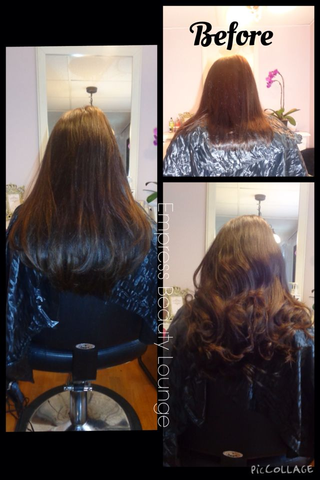 Before And After With Fusion Hair Extensions Can You Tell