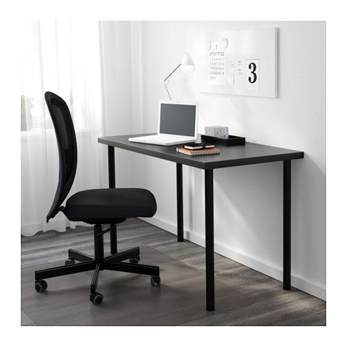 ikea office cabinet living room linnmon adils table blackbrownblack ikea table blackbrown black house projects