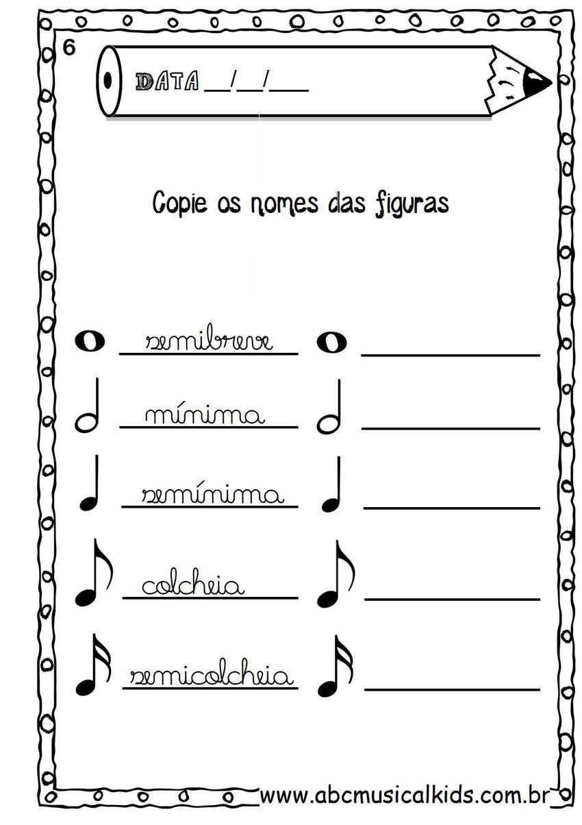 Livro de atividades de musica para crianças | partituras musicais ...