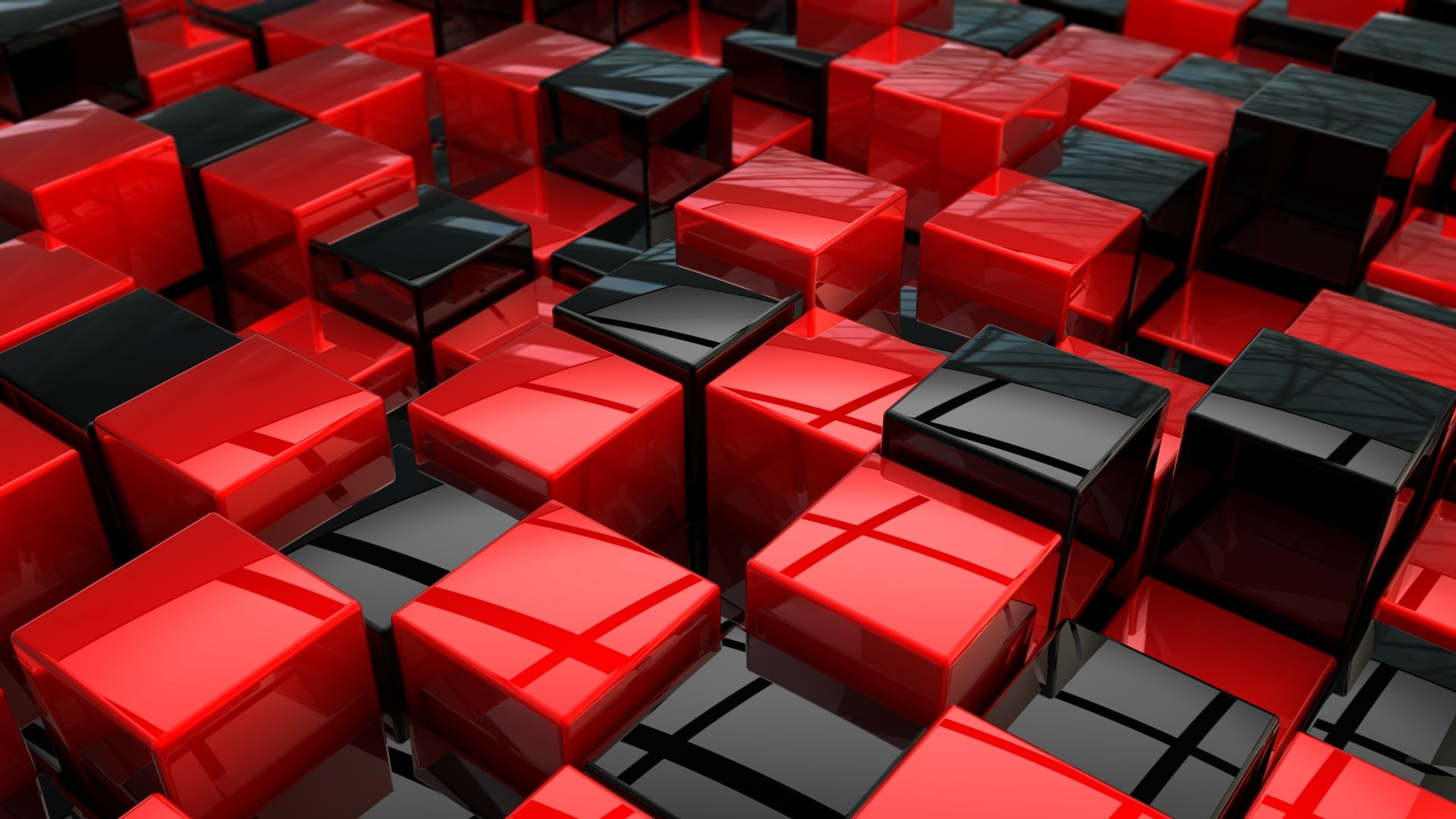 Hd wallpaper red and black - Red And Black Cubes Wallpaper