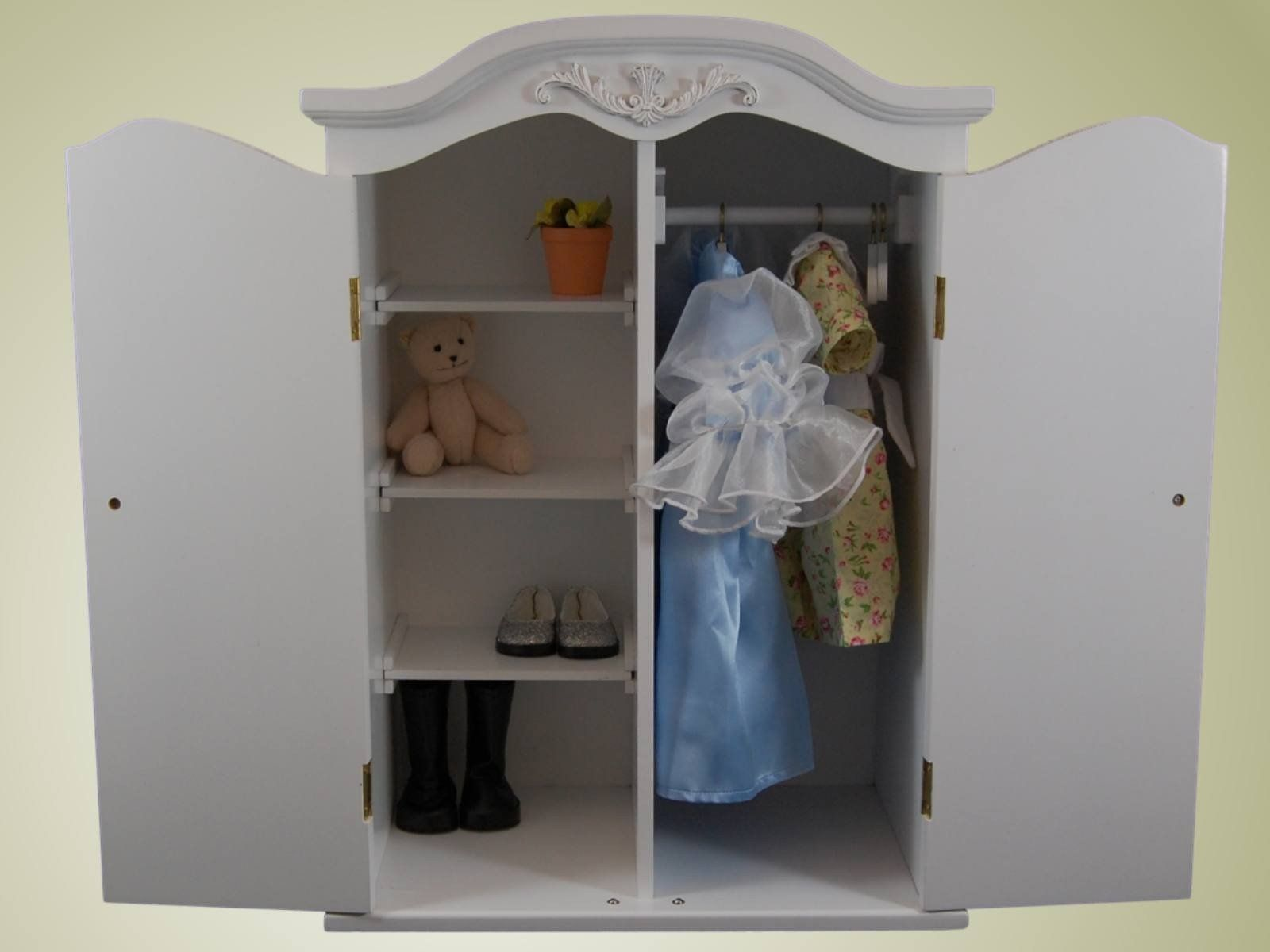 Beautifully Detailed Victorian Style Armoire Wardrobe For Doll, Clothing  And Accessory Storage. SUPER Storage For All Dolls Like American Girl ® 18  Inch ...