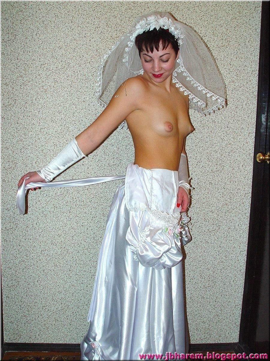 Naked bride on honeymoon something is