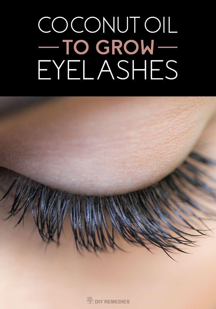 Naturally Growing Eyelashes with Coconut Oil | Eyebrows, Eyelashes ...
