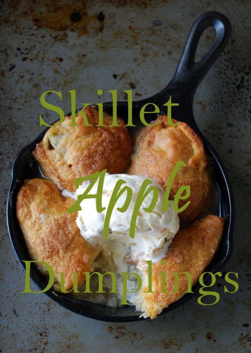 Skillet #Apple Dumplings recipe