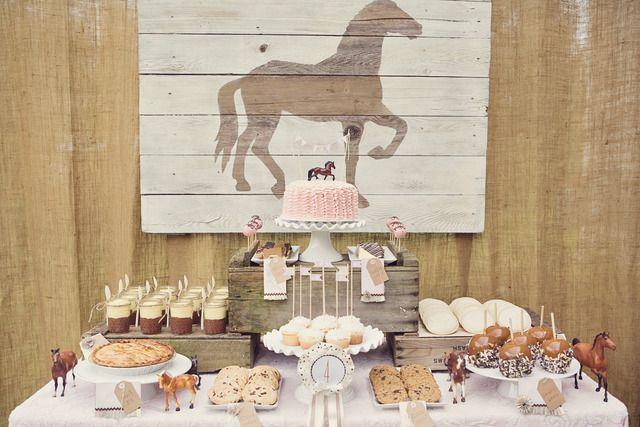 Photo 17 Of 36 Pink Brown Vintage Ponies Birthday Pony Party