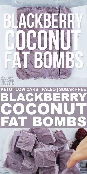 Photo of Blackberry Coconut Fat Bombs – Keto Paleo