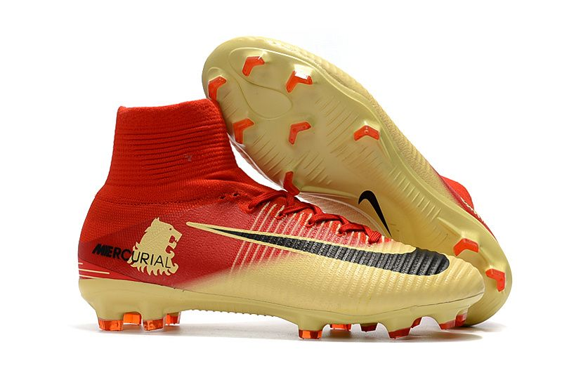 NEW Nike Mercurial Superfly V Boots : Nike Mercurial Superfly V X Lannister  FG Red Gold Black