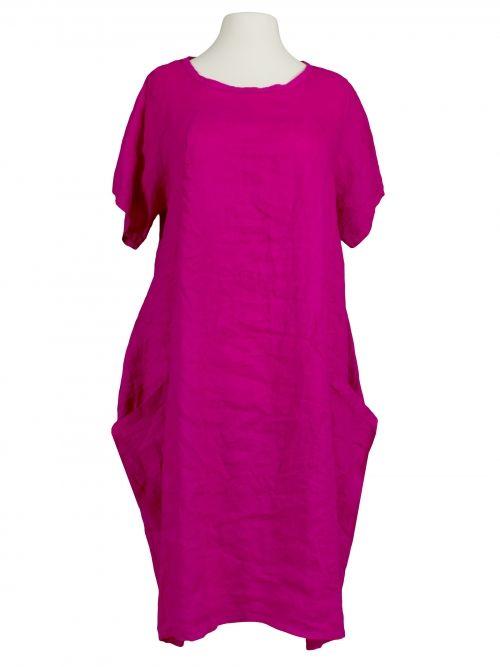 Damen Leinenkleid A-Form, pink von Spaziodonna bei www ...