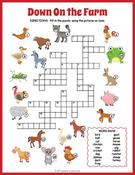 Kindergarten Alphabet Writing Worksheets Pdf Farm Animals Crossword Puzzle  Vocabulary Words Worksheets And  Subject And Verb Agreement Worksheets with 11 4 Meiosis Worksheet Answers Excel Farm Animals Crossword Puzzle Farm Activitiesvocabulary Wordsword  Ions Worksheet Answers Pdf