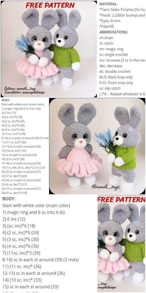 Amigurumi Velvet Rope Bunny Crochet kostenlose Anleitung - Crochet.msa.plus - #Amigurumi #Anleitung #bunny #crochet #Crochetmsaplus #kostenlose #Rope #Velvet #amigurumifreepattern