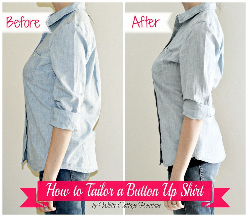 How to Tailor A Shirt for a Perfect Fit! | Costura, Ropa y Reciclaje