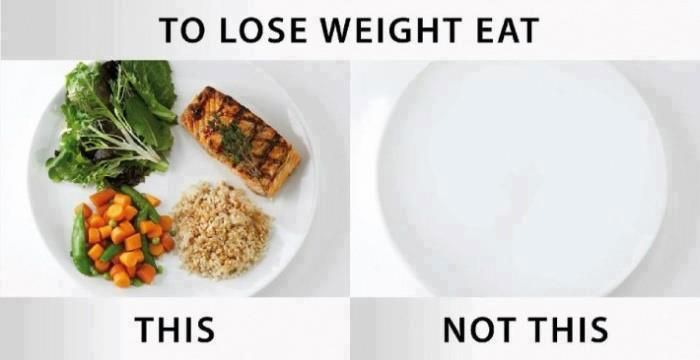To lose weight eat this, not this