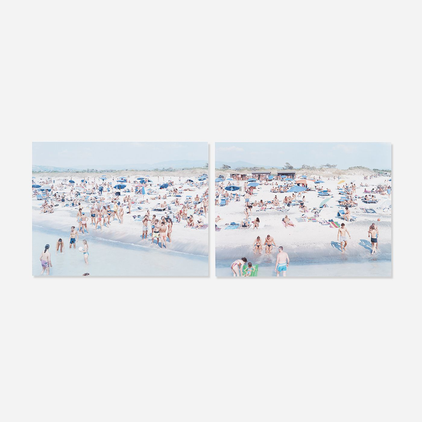 Framed. Massimo Vitali. This: Rosignano (diptych). Love his work.