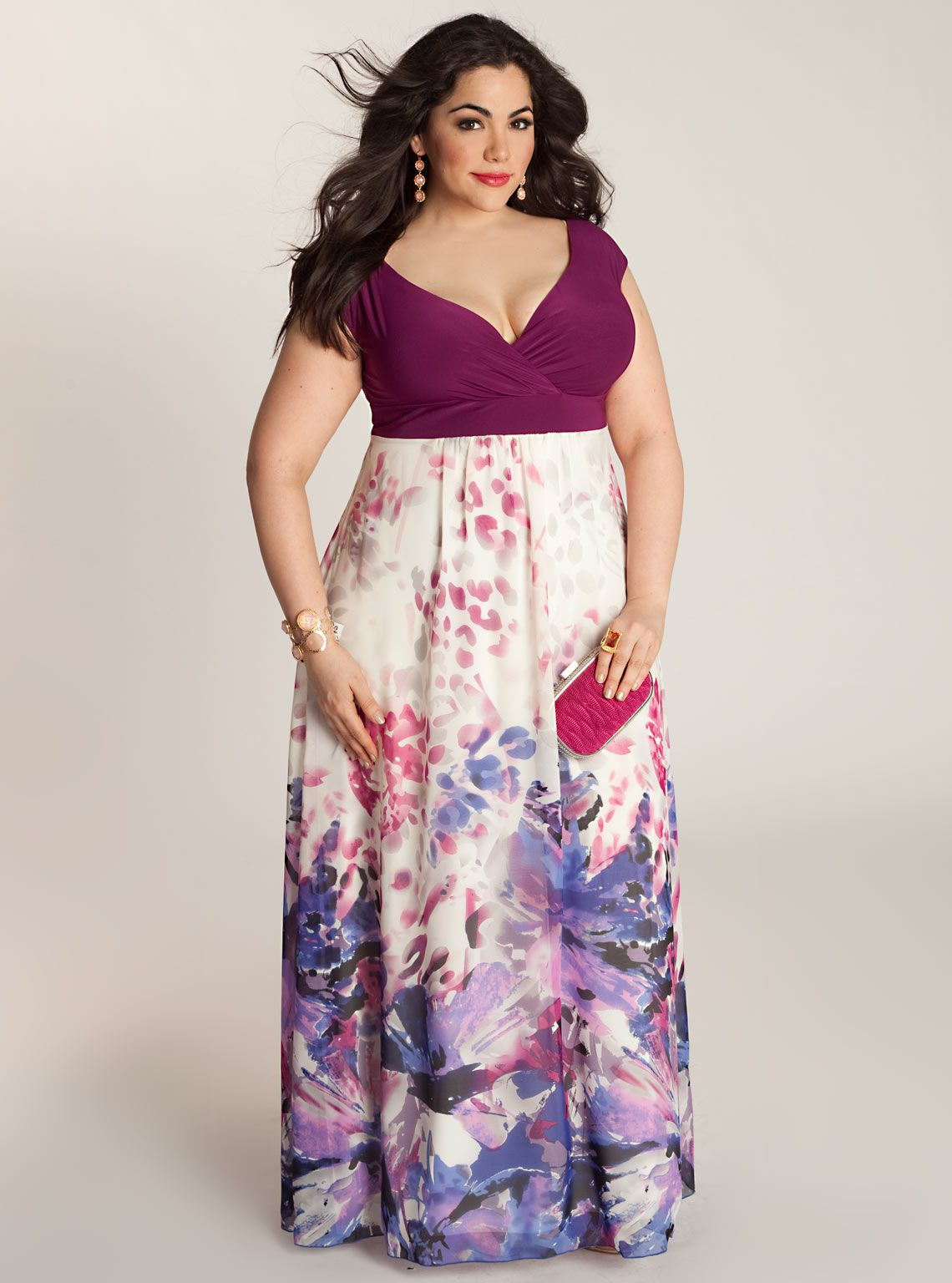 Plus purple maxi dress