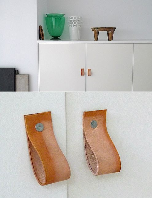 How To Make Diy Leather Drawer And Cabinet Pulls Diy Leather