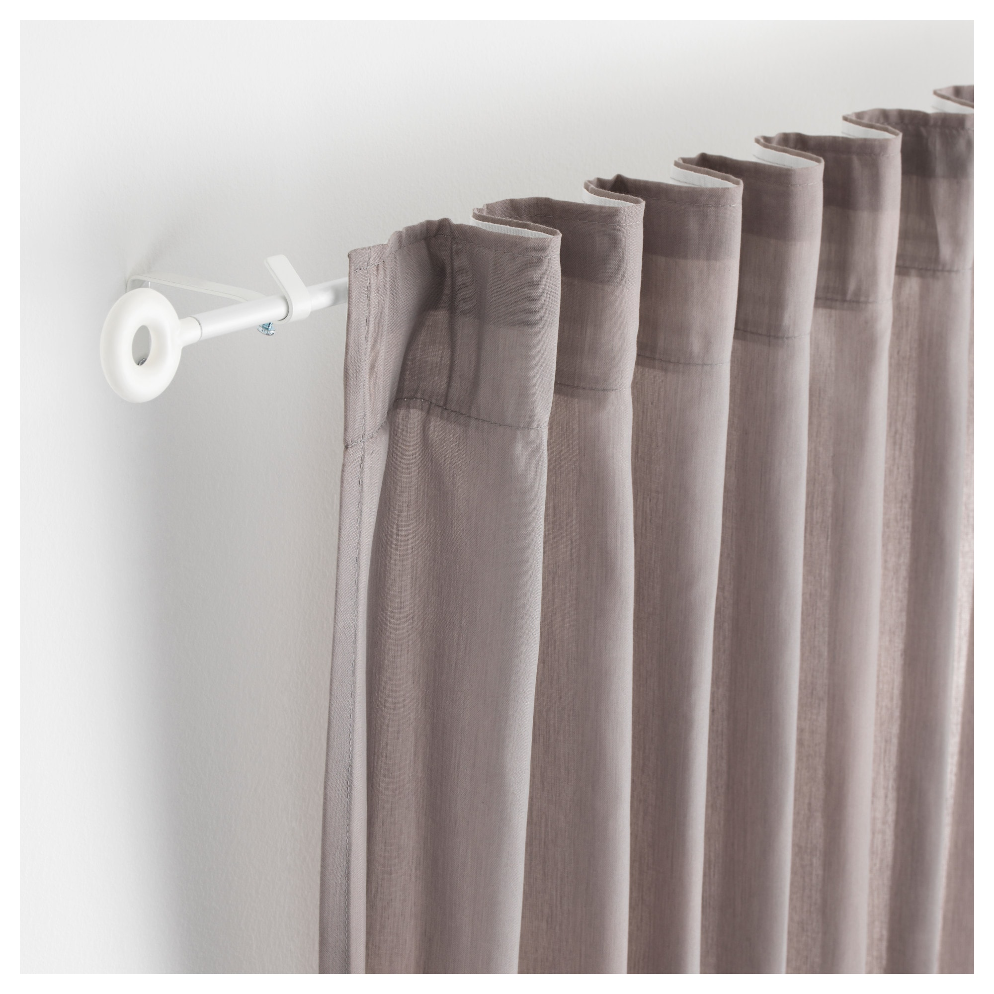 Irja Curtain Rod Set White 55 With Images Curtain Rods