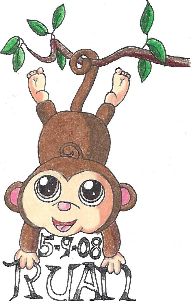 69a31a1b40e1b Monkey Tattoos Designs. Perfect for my daughter! | Makes me Smile ...