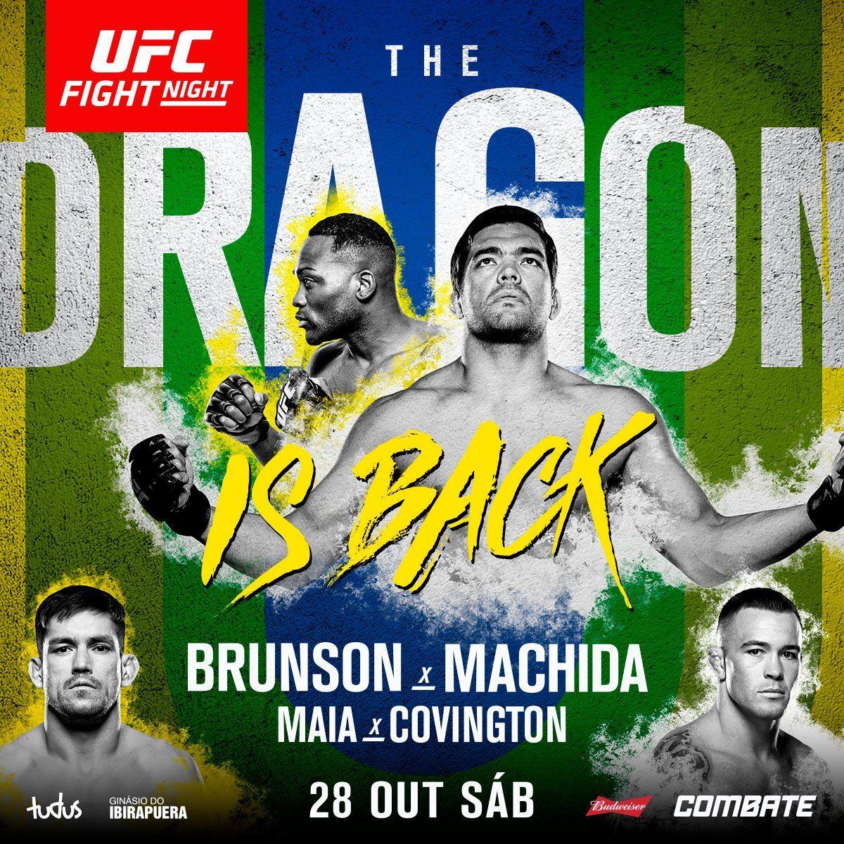 Ufc Fight Night 119 Machida Vs Brunson Ufc Horaire