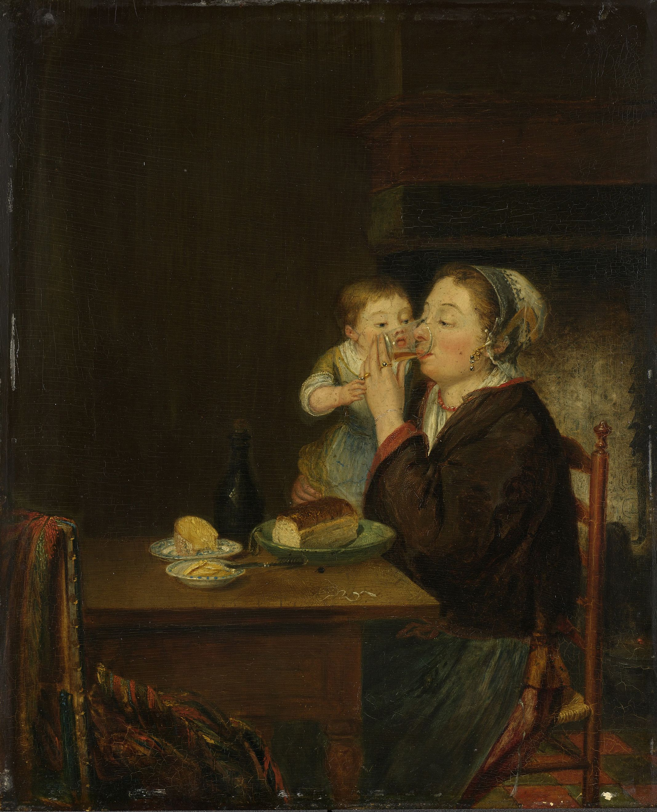 Louis Bernard Coclers A Mother With Her Child  Public Domaina