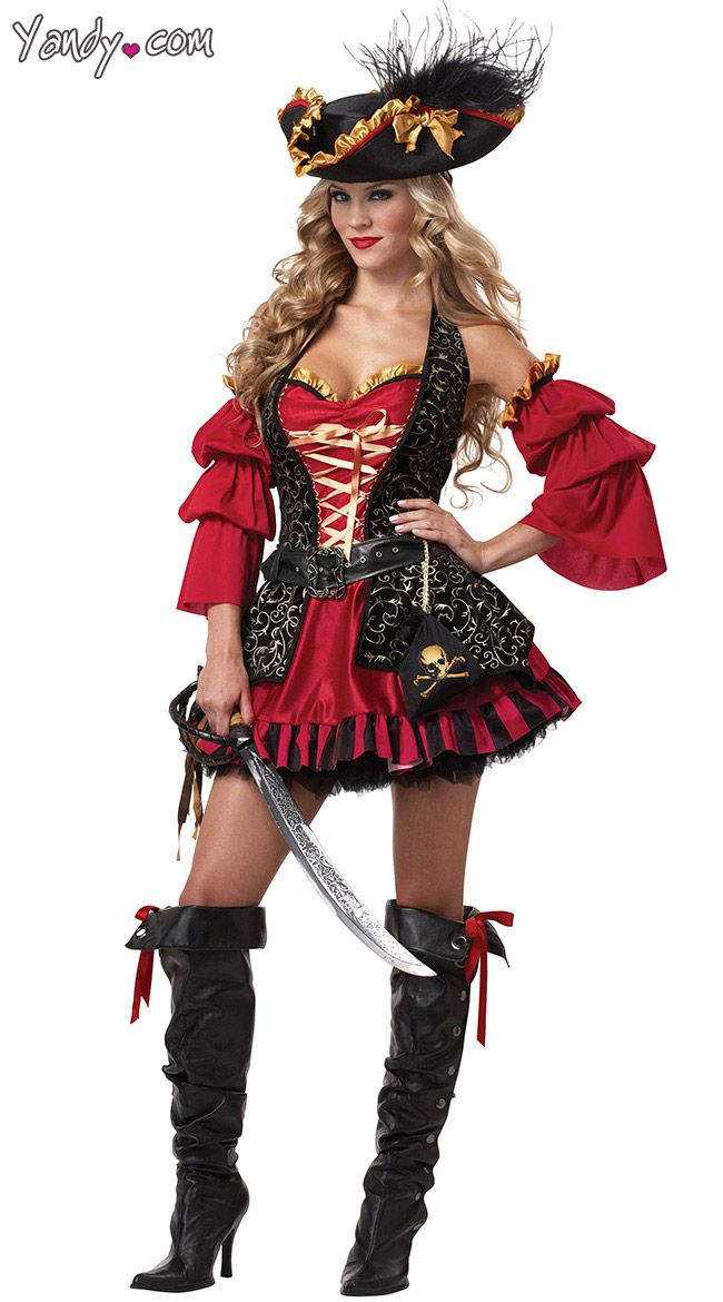 Women's Costumes Novelty & Special Use Modest Pirate Costume Adult Sexy Wench Halloween Fancy Dress