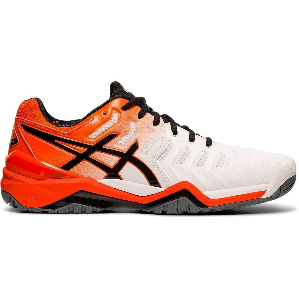 Asics Gel Resolution 7 White Mens Tennis Shoes 100 Wht Or Bk 12 0 Asics Gel Mens Resolution Shoes As In 2020 Mens Tennis Shoes Tennis Shoes Outfit Tennis Shoes