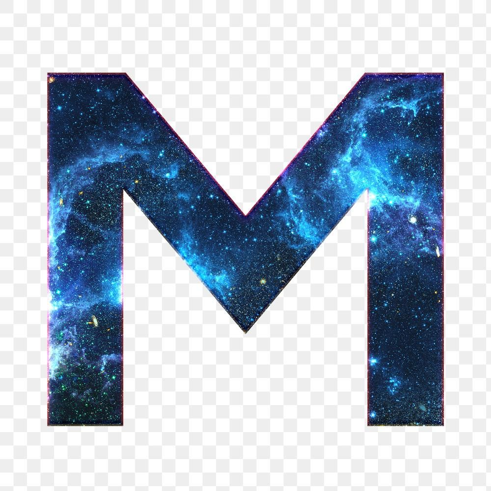 Png Letter M Galaxy Effect Typography Blue Font Free Image By Rawpixel Com Ployploy Typography Lettering Free Illustrations