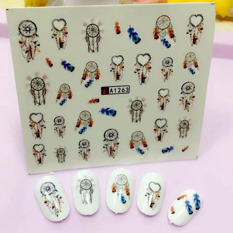 Dream Catcher Series Water Transfer Nail Art Sticker Kids Decals DIY ...