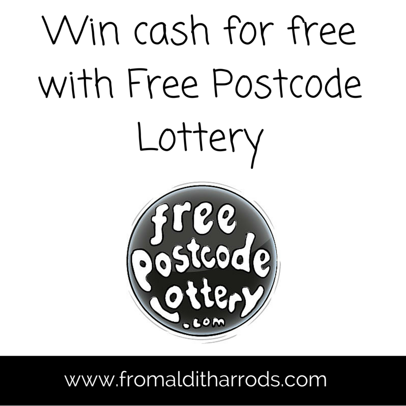 Win cash for free with Free Postcode Lottery Lottery