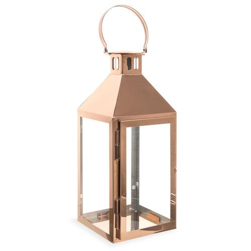 Maison Du Monde Lanterne.Lanterne En Metal Cuivre H 25 Maison Du Monde Idees Deco Copper