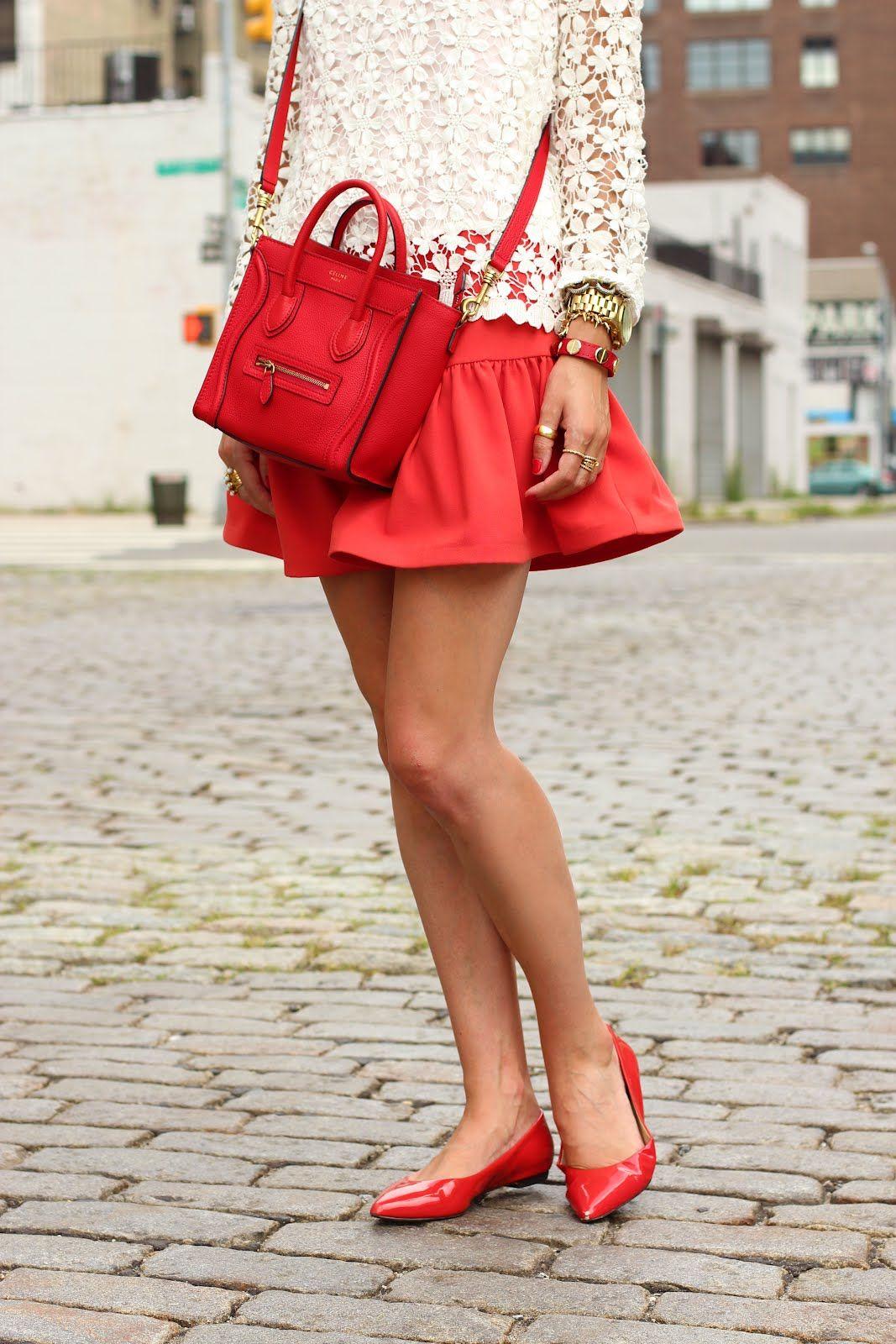 pops of punchy color-- I die for this Celine bag