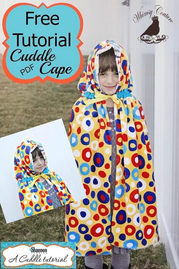 Free Cape Pattern   Patrones !!   Pinterest   Costura, Toallas y ...