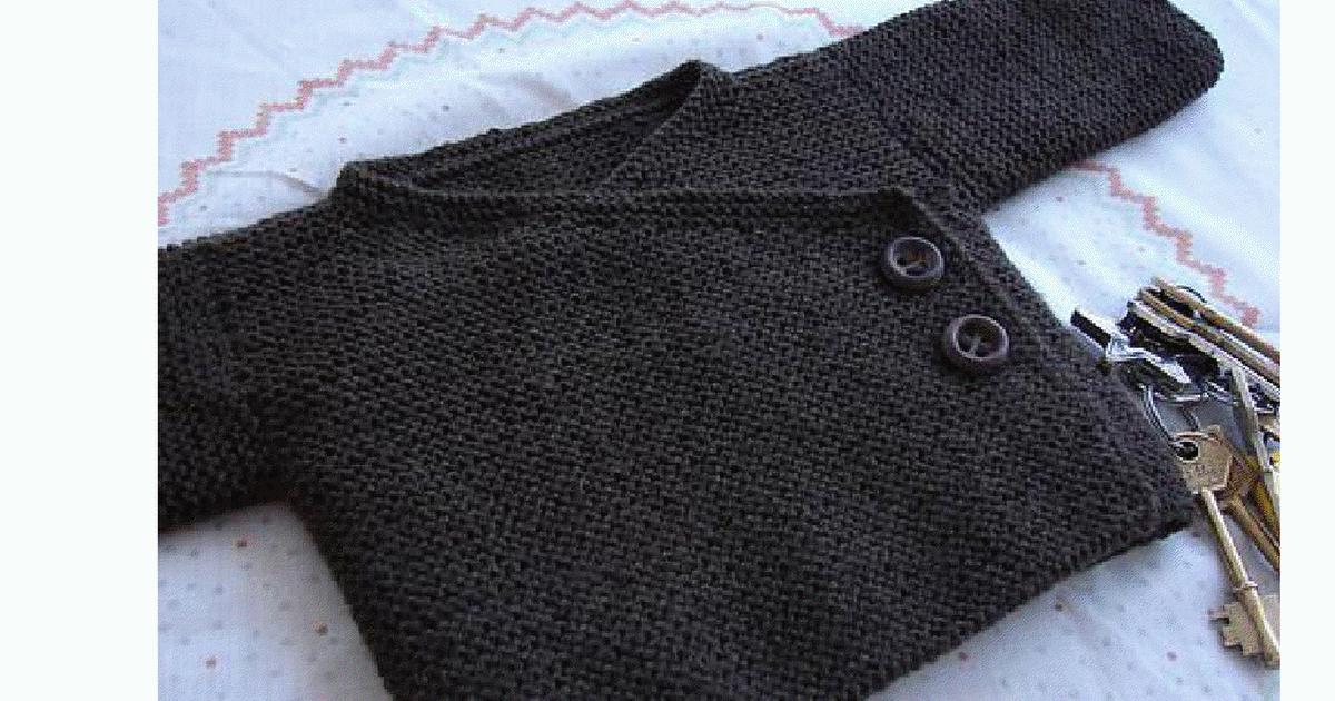 Garter Stitch Baby Kimonofpdf Baby Clothes Knit Pinterest