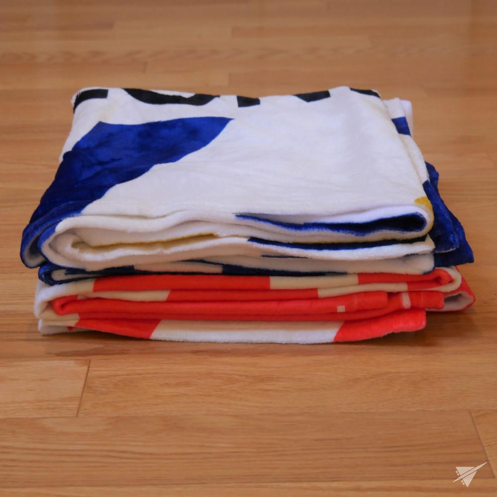 Photo of AUS Austin Throw Blanket • Airport Code & Vintage Baggage Tag Design