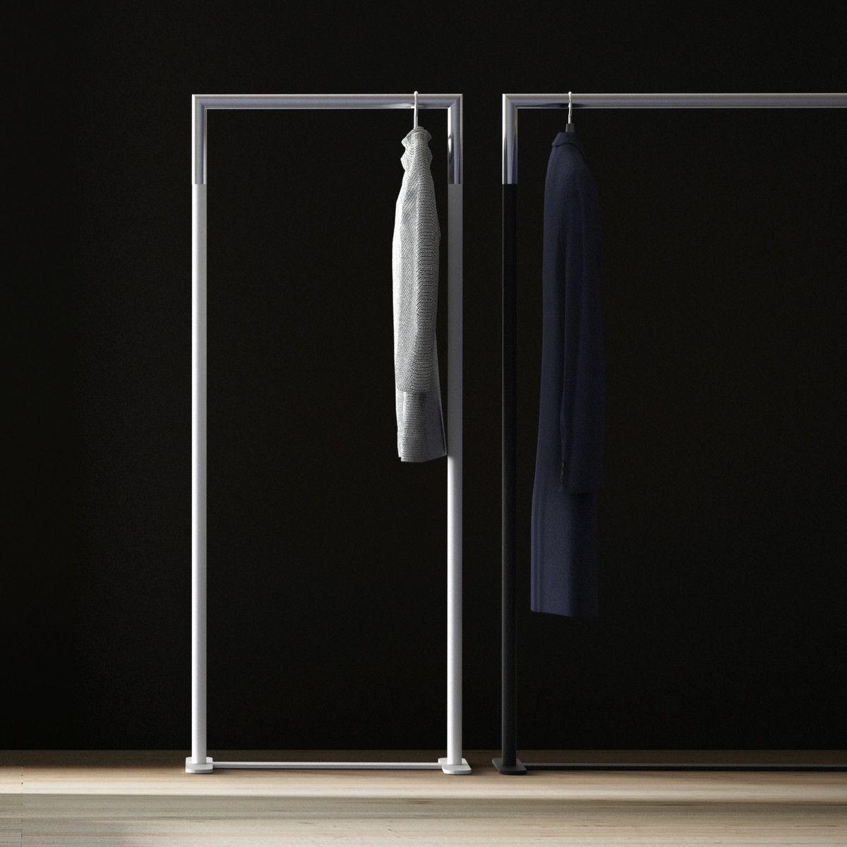 Kleiderständer Edelstahl Design bukto c stand kleiderständer 60 x 150 cm weiß