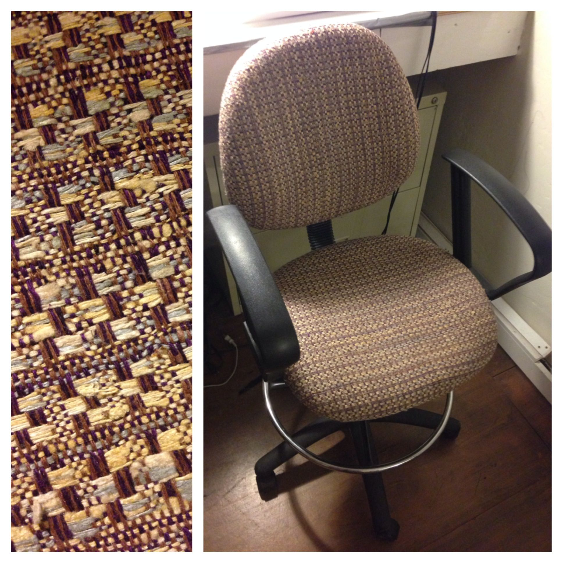 office chair upholstery. Reupholstered Office Chair. #upholstery #reupholster #chair #officechair #upcycle #recycle Chair Upholstery T