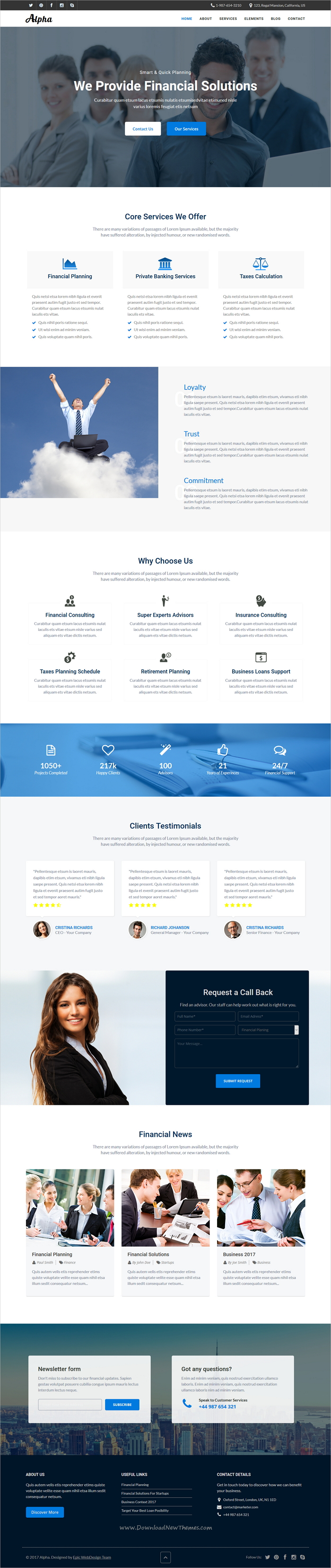 Alpha Business Consulting And Financial Services Html Template Consulting Business Templates Financial Services